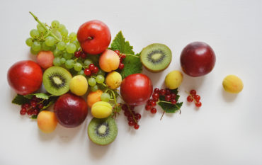 fruktvitbakgrund